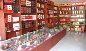 tobacconists  with cigarette displays are common throughout the country