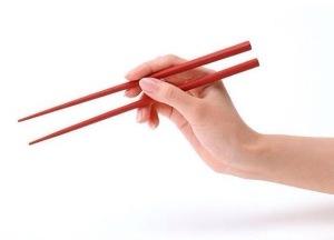 can I use chopsticks? fei hua!
